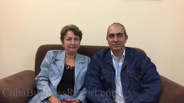 Dr. Yamila de Armas Águila, Dr. Osvaldo Héctor Ardisana and
