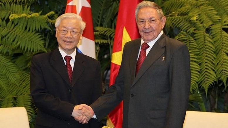 Raul Castro, Nguyễn Phú Trọng, Vietnam, Cuba